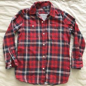 Gap Kids Plaid Button Down Shirt XL